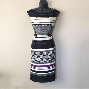Emma & Michelle Mixed Print Sheath Dress
